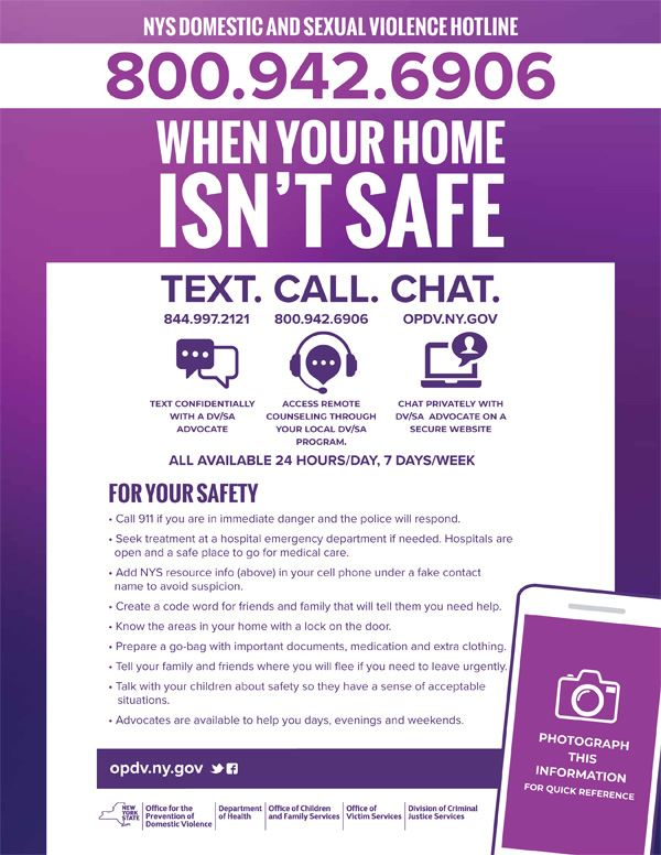 NYS Domestic Violence Hotline