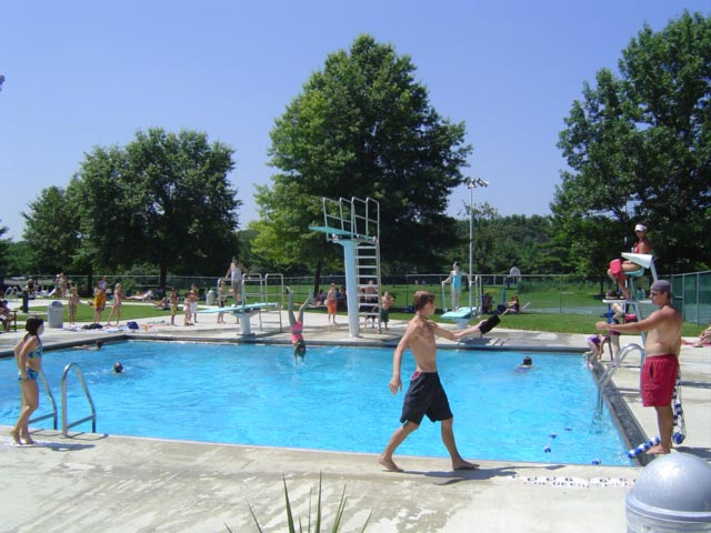 The Diving Pool at Elm Avenue Park